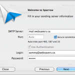 Step 3 - Provide your outgoing server details